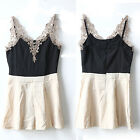 CHIC New Womens Sleeveless Lace Bodycon Evening Party Cocktail Short Mini Dress