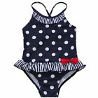 Baby Girls Kid One Piece Polka Dot Bikini Swimwear Striped Bow Bathing Swim Suit