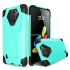 For LG K8 V VS500 Dual Layer Hybrid Hard Armor Shockproof Kickstand Case