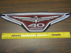 """HONDA GOLDWING 40th ANNIVERSARY EMBROIDERED PATCH 14"""" OR 5"""""""