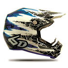 NEW 6D ATR-1Y CHAOS MX DIRT BIKE MOTOCROSS OFFROAD YOUTH HELMET BLUE ALL SIZES