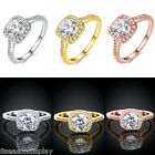 1PC Charm Auger Ring With Crystal Rhinestone Fashion Women Jewelry Size 8