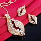 New Arrival Simple Elegant 18K Gold Plated Jewelry Set For lady Shiny Crystal