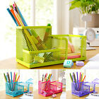 Office Table Mesh Storage Box 3 Compartments Pencil Pen Holder Sanwood
