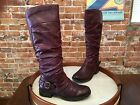 Bare Traps Sheridan Ruby Burgundy Ruched Riding Boot NEW