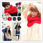 2016 Newest Women Infinity Double Circle Cable Knit Cowl Neck Long Scarf Shawl