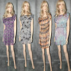 BNWT Ladies Floaty Summer Dress Various Styles Size 10 12 14 16 New Casual Frock
