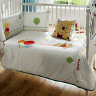 Walt Disney Winnie the Pooh Sunny Day Balloons Embroidered Baby Cot Quilt Duvet