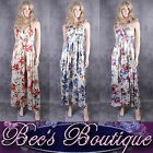 NEW Satin Maxi Dress Size M uk 12 14 16 Ladies Blue Red Purple Summer Outfit