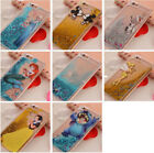 Cartoon Disney Glitter Moving Liquid  Dynamic Back Case Cover For  iPhone
