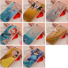 Cartoon Disney Glitter Moving Liquid Dynamic Back Case Cover For iPhone 6 7 8
