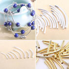 Wholesale Curved Tube Silver Gold Plated Elbow Noodle Spacer Loose Bead Finding