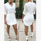 New Sexy Women Summer Sleeve Party Evening Cocktail Short Mini Dress Fashion Hot