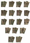 Pair Of Bronze on Multicam / MTP Rank Slides ( Multi Terrain Pattern - All Ranks