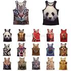New Mens 3D Animals Pharaoh Print T-shirt Tee Blouse Tops Leasure Waistcoat Vest