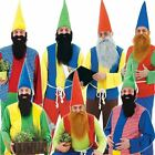 Adult Mens Dwarf/Gnome Fancy Dress Costume 7 Variations Panto Stag Night