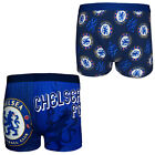 Chelsea Football Club Official Soccer Gift Mens Crest Boxer Shorts Blue