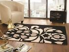 New Elegant Soft Rich Heavyweight 100% Acrylic Luxurious Black Beige Baroque Rug