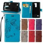 for Samsung Embossed Flower Flip Leather Wallet Card Clip Stand Skin Case Cover