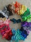 Bow headband 4 inch bow shimmery band 40 colours available girls baby gift baby