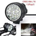 28000LM 11 x CREE XM-L T6 LED 3 Modes Bicycle Cycling Light Lamp Headlight Gift