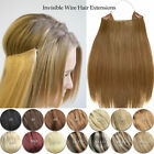 US Hidden Halo Invisible Wire Weft 100% Remy Human Hair E...