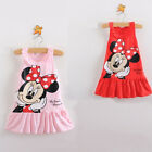 Toddler Baby Girls Minnie Mouse Cartoon Tops Clothes Party Dress Cotton 6M-5Y