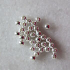 3mm Round Seamless Sterling Silver Spacer Beads with 0.9mm diameter hole