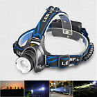 CREE R2 T6 LED Headlamp XM-L Flash Light Headlight + Charger + Battery Focusable