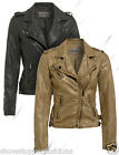 'Size 8 10 12 14 16 New Womens Biker Jacket Pu Faux Leather Ladies Black Brown