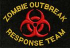 Zombie Outbreak Response Team Embroidered Black T-Shirt S-5XL zort