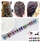 Wholesale Lot Girls Sweet Rhinestone Crystal Flower Mini Hair Claws Clips Clamps