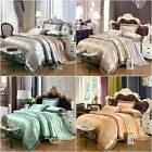 Lace Quilt Doona Duvet Cover Set Queen King Size Bed Covers Linen PillowCase New