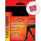 200 DENIER THERMAL FLEECE TIGHTS BY SILKY SUPER WARM- 5 COLOURS 4 SIZES