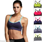 FLWomens Seamless Racerback Sports Bra Wirefree Padded Yoga Top Tank Workout Gym