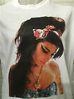 AMY WINEHOUSE - PICTURE - MENS WHITE T-SHIRT
