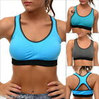 FL Yoga Womens Sports Bra Top Tank Vest Quick-dry Running Jogging Padded Dance