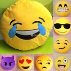 Yellow Round Cushion Soft Emoji Smiley Emoticon Stuffed Plush Toy Doll Pillow DZ