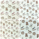 TINY TEDDY baby fabrics 100% cotton pink or blue 44 inches ( 112cm) wide