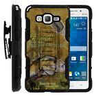 For Galaxy Grand Prime Rugged Holster Clip Stand Case Big Game Fishing Bass