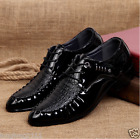 L Casual British Mens Pointy Toe Lace Up Goth Dress Oxford Fashion Formal Shoes