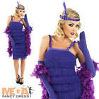 1920s Purple Flapper Dress 20s Charleston Ladies Fancy Dress Costume UK 6-30
