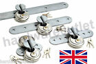 GALVANISED High Security Locking Hasp Garage Shed & 70 mm Discus Padlock UK Made
