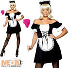 Sexy French Maid Mistress Fancy Dress National Uniform Adults Costume Outfit New