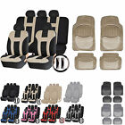UAA Luxury Carpeted CAR Rubber Mats & Dual-Stitch Racing Polyester Seat Covers