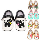 0-18M Newborn Baby Toddler Boy Girl Embroidered PU Leather Soft Sole Crib Shoes