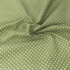 GREEN colour POLKA DOT 100% cotton fabric  per FQ, half metre or metre