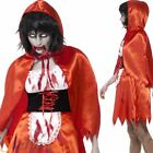 Ladies Zombie Red Riding Hood Fancy Dress Costume Halloween Adult Outfit