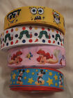 "1metre of 1"" SpongeBob/Ariel/Hungry Caterpillar/Mickey Mouse Grosgrain Ribbon"