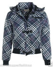 NEW Womens MA1 Grey Padded Bomber Jacket Ladies Quilted Size 8 10 12 14 Check